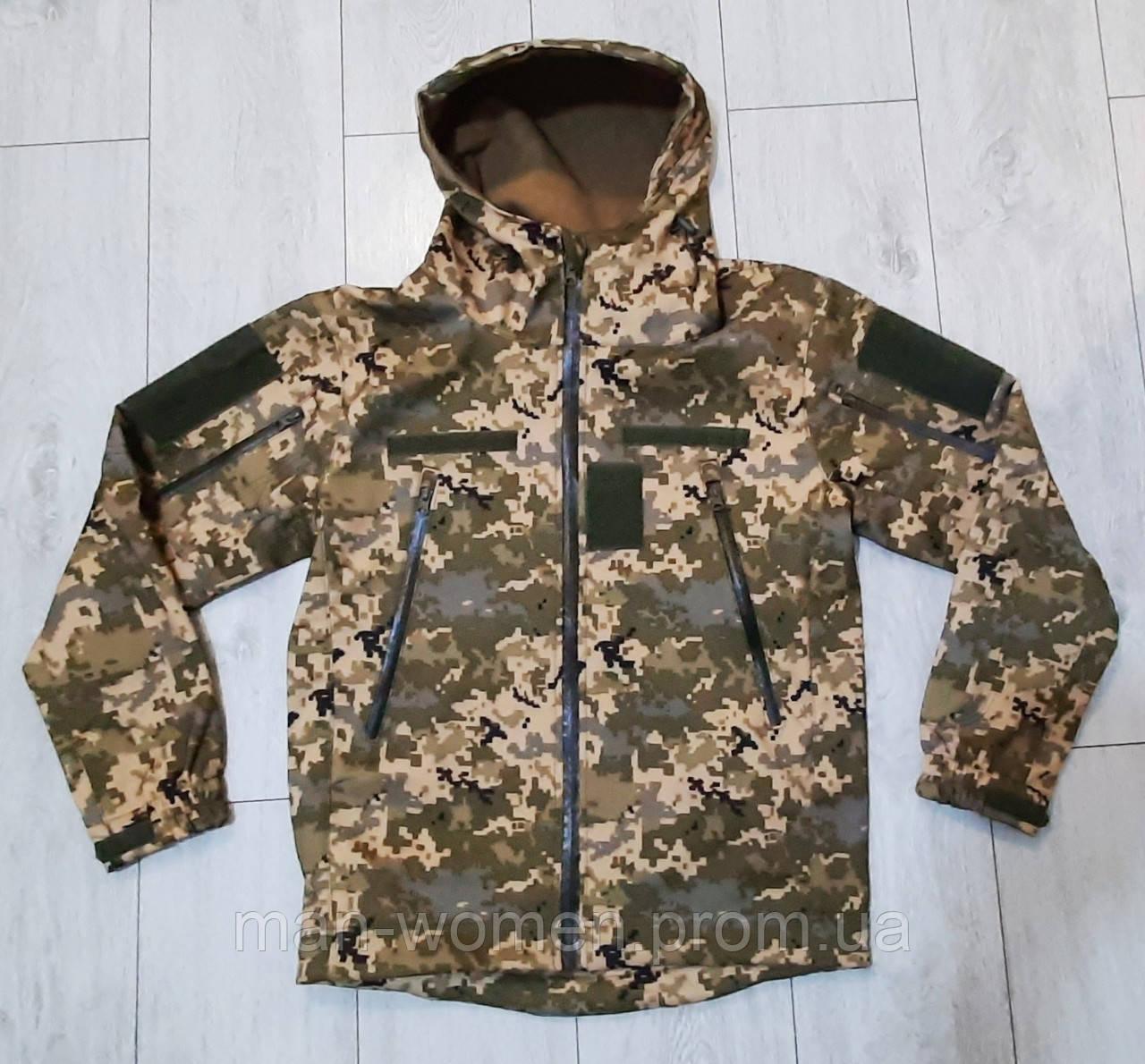 Куртка softshell пиксель ВСУ (ветровлагозащитная). Качество!