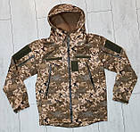 Куртка softshell пиксель ВСУ (ветровлагозащитная). Качество!, фото 2