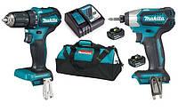 Набор аккумуляторного инструмента Makita DLX2220 (DTD155, DDF483, DC18RC, BL1830Bx2, сумка), 18В LXT