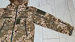 Куртка softshell пиксель ВСУ (ветровлагозащитная). Качество!, фото 7