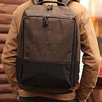 Рюкзак мужской городской спортивный с спинкой club brown коричневый, фото 1