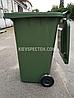 Євроконтейнер пластиковий, Weber V-240 л, зелений, фото 4