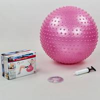 М'яч для фітнесу (фітбол) масажний 55см Body Sk BB-003-22-DN