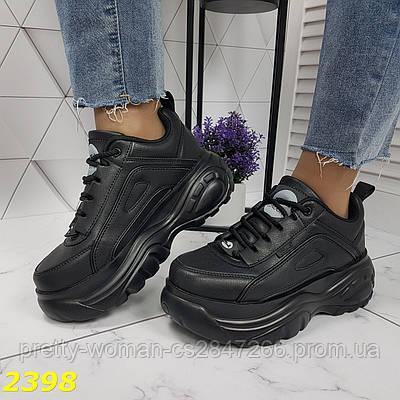 Кросівки на високій платформі чорні
