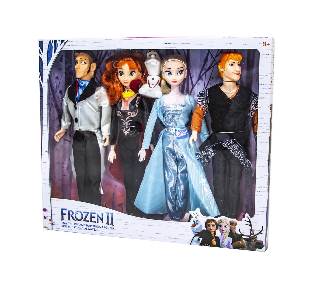 "Набор кукол «Холодное сердце» кукла Анна Эльза Кристоф Ханс и Олаф ""Frozen Heart"" Anna Elza"