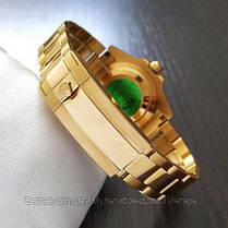 Часы мужские наручные механические с автоподзаводом Rolex Submariner AAA Date Gold-Black реплика ААА класса, фото 3
