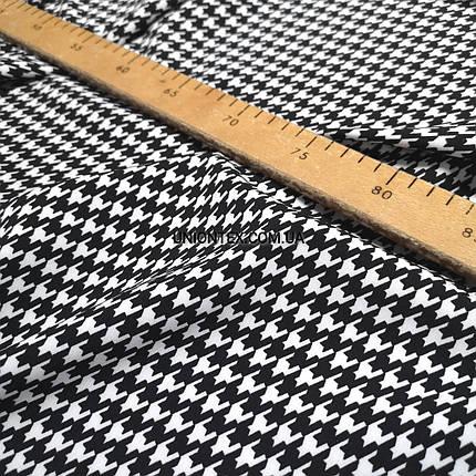 Ткань креп костюмка барби принт гусиная лапка, фото 2