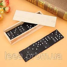"""Настольная игра """"Домино"""" (размер 18,5х11,5х3см) в деревянной коробке"""