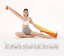 Лента эспандер для пилатеса эспандер лента для фитнеса  эспандер для растяжки (стречинга) 0,35 мм [оранжевый]