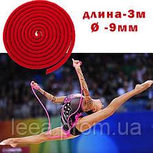 Скакалка для художественной гимнастики утяжеленная с люрексом 3 метра Скакалка гимнастическая