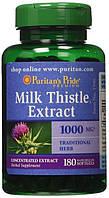 Селемарин Витамины Печение Очищения Puritan's Pride Milk Thistle 4:1 Extract 1000 mg (Silymarin) 180 Softgels