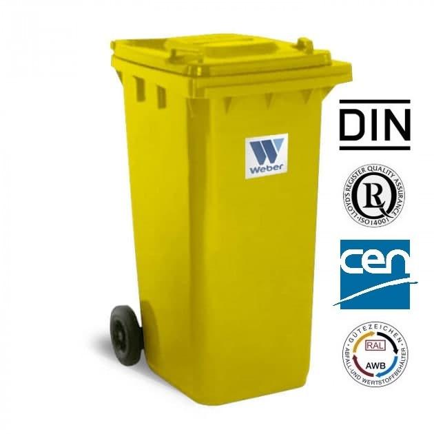 Євроконтейнер пластиковий, Weber V-240 л, жовтий