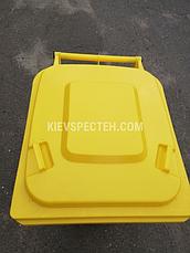 Євроконтейнер пластиковий, Weber V-240 л, жовтий, фото 3