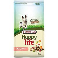 Сухой корм Happy Life Adult Mini with Lamb 3кг