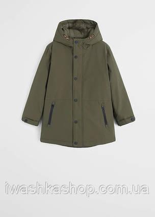 Водоотталкивающая куртка парка еврозима на мальчика 8 лет, р. 128, Mango