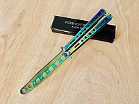 Нож бабочка тренировочная/ балисонг / раскладной / ніж розкладний №6