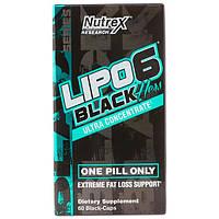 Nutrex Lipo-6 Black Hers Ultra Concentrate 60 black-caps комплексный жиросжигатель для быстрого похудения