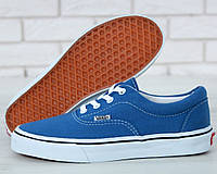 Женские кеды Vans Authentic Blue. Живое фото. Реплика