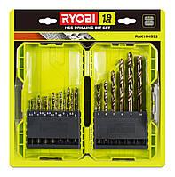 Набор сверл по металлу Ryobi RAK19HSS2 19 шт