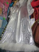 """Карнавальный костюм из парчи """"Снежинка с короной"""", размер от 7-11 лет"""