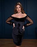 Стильное женское платье мини с открытыми плечами, разные цвета р.44-46,48-50,52-54 Код 1124В, фото 8