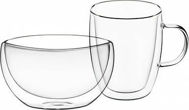 Посуда двойное стекло