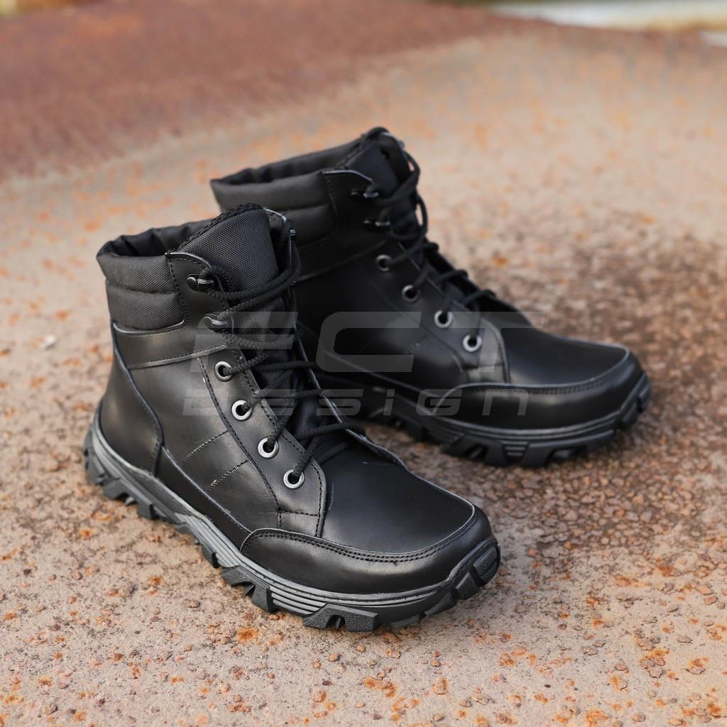 Ботинки зимние Некст кожа черные утеплитель Слимтекс
