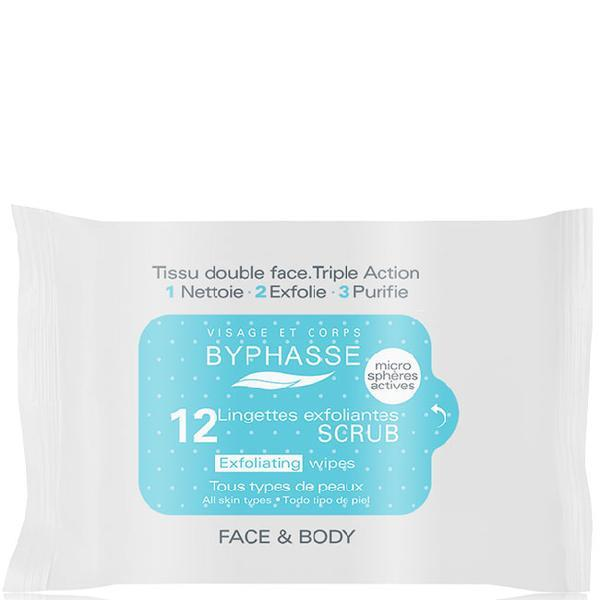 Byphasse Exfoliating Wipes All Skin Types Салфетки для лица отшелушивающие салфетки 12 шт.