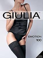 Теплые чулки 100 DEN с самоудерживающимся кружевом TM GIULIA