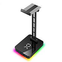 JIUSHARK в JSR-1 RGB для навушників стенд тримач гарнітури з 3 USB портів 1 Тип-C алюмінієвий сплав