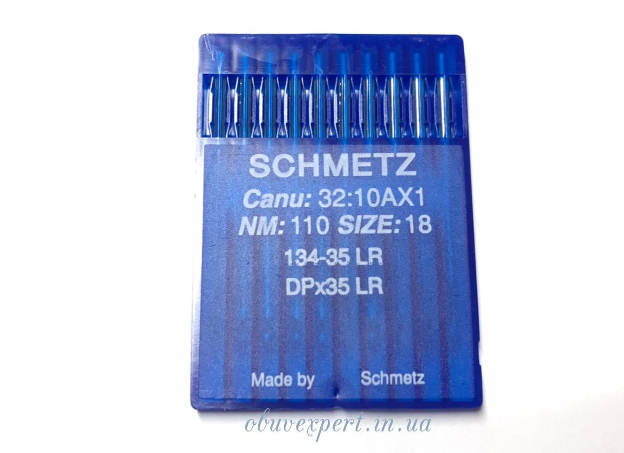 Голка для шкіри Schmetz DPx35 LR 110/18, з ріжучим вістрям, пластина 10 голок