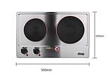Плита электрическая 2 х конфорочная настольная KD-4047, фото 5