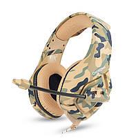 ONIKUMA k1b не камуфляж гарнітура провідна 3.5 мм бас навушники стерео навушники Навушники з мікрофоном для