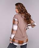 Батник женский удлиненный теплый трехнить, зимний, разные цвета, р.42-44,46-48,50-52 Код 1128В, фото 10