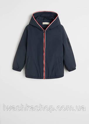 Стильная демисезонная куртка с мягкой подкладкой на мальчика 5 лет, р. 110, Mango
