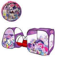 Детская игровая палатка с тоннелем и домиками My Little Pony M 3777