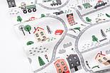 """Лоскут ткани """"Автодорога с серо-зелёными машинками"""", фон - белый, №2962, размер 46*80 см, фото 6"""