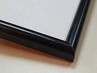 Рамка А4 (210х297).Рамка пластиковая 14 мм.Черное дерево
