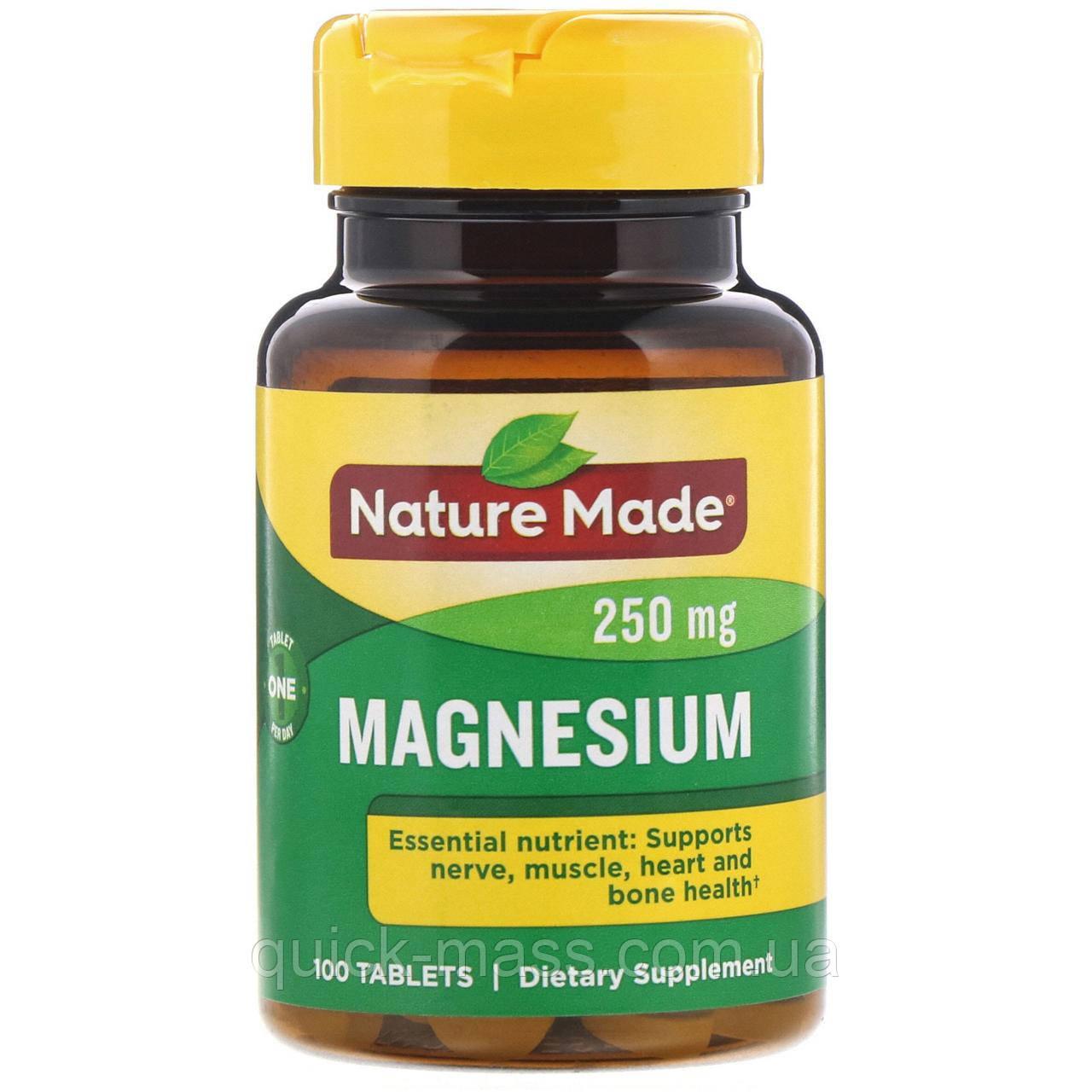 Витамины Магний Nature Made Magnesium 250mg 100tab