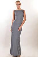 Элегантное вечернее платье Венеция, строгие прямые линии, спинка наполовину открытая, 42-52 размеры, фото 1