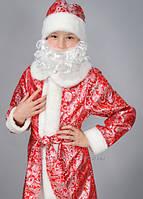 """Карнавальный костюм из парчи красный """"Новый год"""", """"Дед мороз"""", """"Санта"""", размер 36-38"""