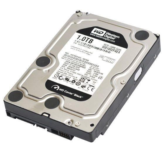 3.5 Western Digital Black 1TB (WD1002FAEX), б/у
