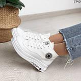 Кроссовки женские белые 5742, фото 4