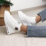 Кроссовки женские белые 5742, фото 6