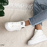 Кроссовки женские белые 5742, фото 7
