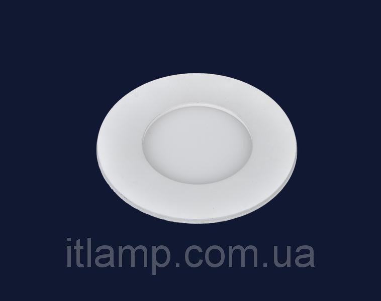 Точечные светильники врезные светодиодный Levistella 728BBWY-MBD-3W (круг)  теплый, холодный