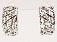 """Серьги M&L колечки """"Решетчато-цветочный орнамент"""", фото 1"""