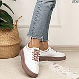 Кроссовки женские белые 5735, фото 3