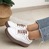 Кроссовки женские белые 5735, фото 2