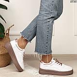 Кроссовки женские белые 5735, фото 5